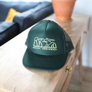 Pacific Northwest PNW green trucker hat